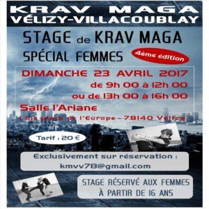Krav Maga Stage Spécial Femmes - Avril 2017