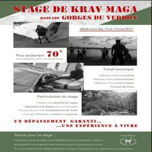 Stage Krav Maga 13 et 14 mai Gorges du Verdon